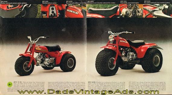 1975 Honda ATC 90 K3 & ATC 70 K1 Three-Wheelers 4-Page Brochure #mb733