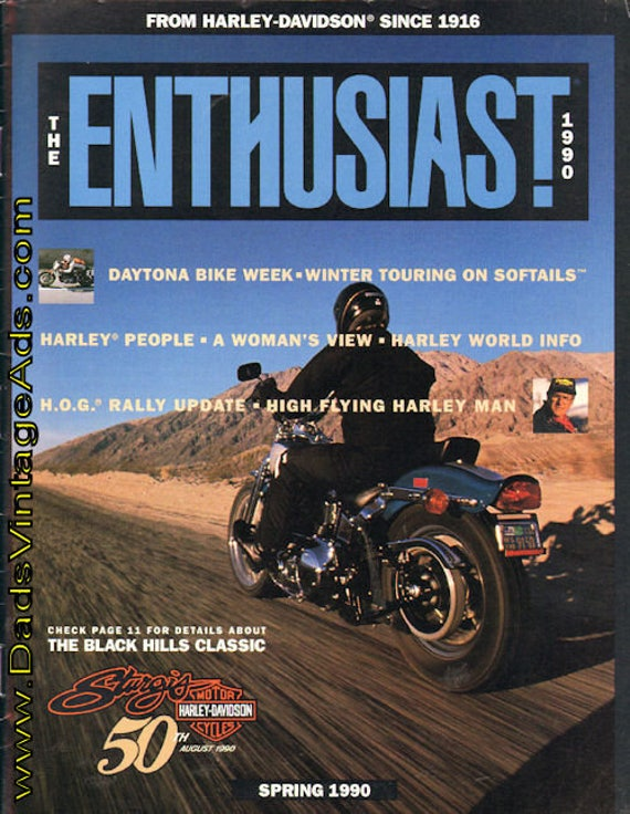 1990 Spring Harley-Davidson Enthusiast Motorcycle Magazine Back-Issue #mb469