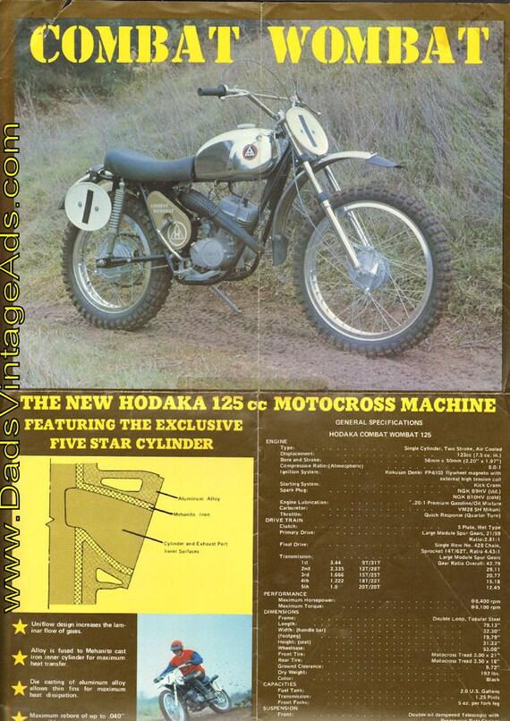 1973 Hodaka Combat Wombat 125 Brochure #mb670