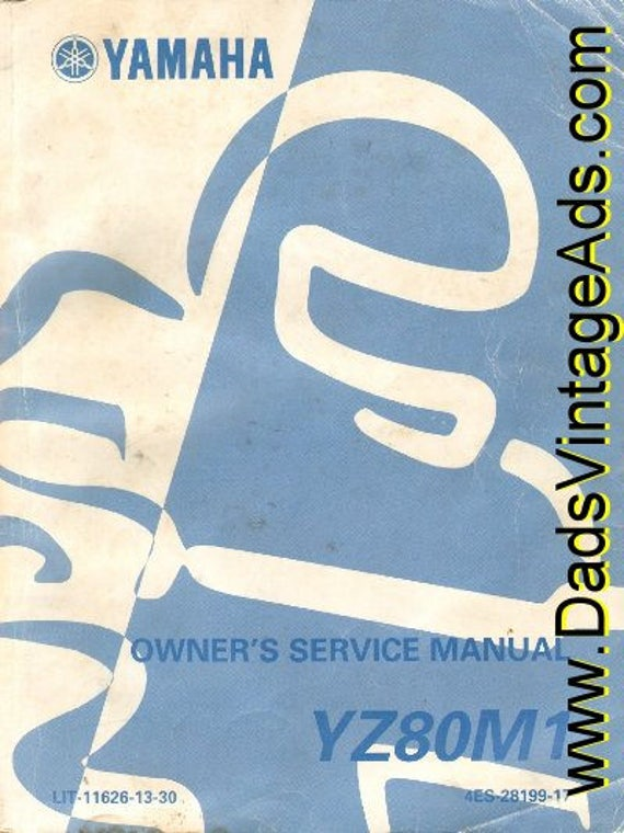 1999 Yamaha YZ80M1 Motorcycle Owner's Service Manual #mm22