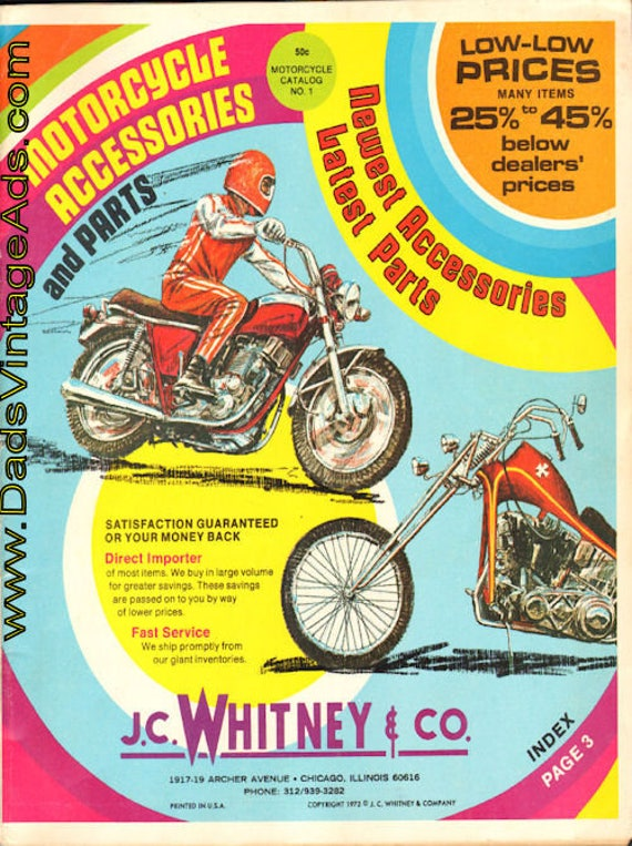 1972 J.C. Whitney & Co. Motorcycle Accessories and Parts Catalog #mb509