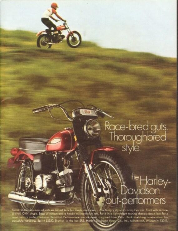 1969 Harley-Davidson Sprint SS350 Motorcycle Ad #k69