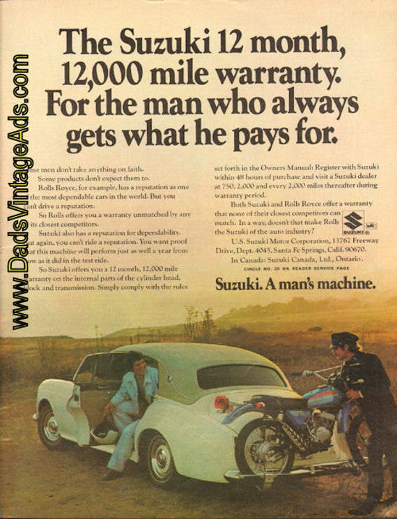 1973 Rolls Royce - The Suzuki of the Auto Industry Ad #e73ka03