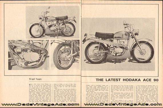1966 Hodaka Ace 90 Trail Test 2-Page Article #d66ia30