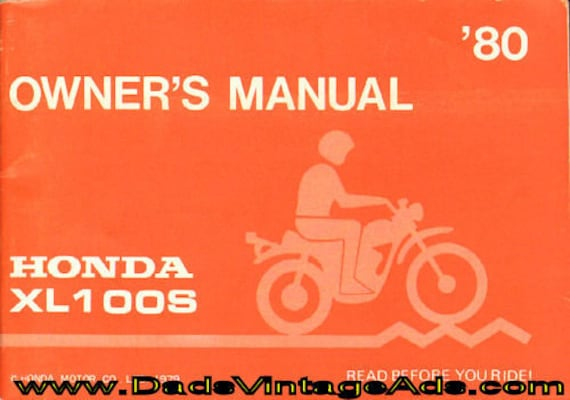 1980 Honda XL100S Owner's Manual #mm121