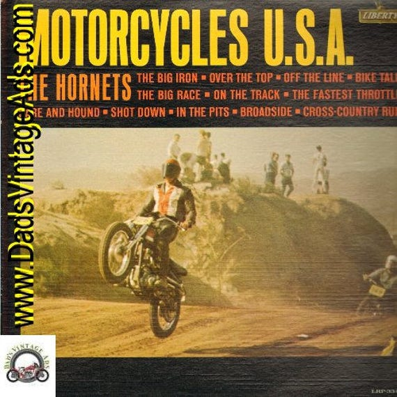 1963 Motorcycles U.S.A. LP Record Album by the Hornets #rec142