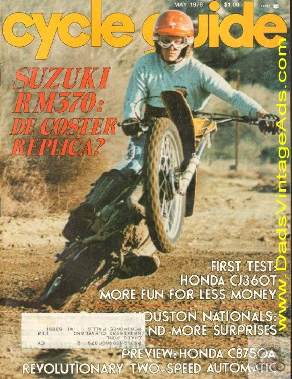 1976 May Cycle Guide Motorcycle Magazine Back-Issue #7605cg