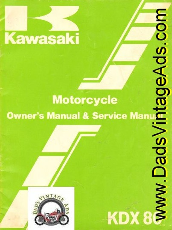 1982 Kawasaki KDX 80 Motorcycle Owner's & Service Manual #mm26
