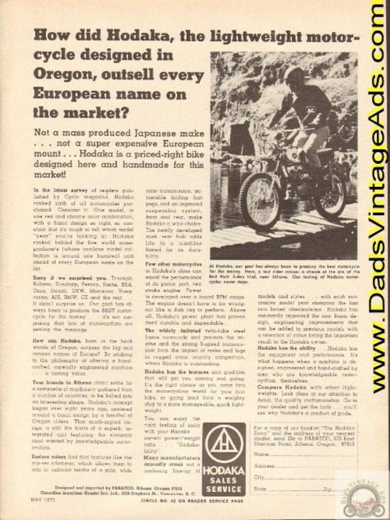 1972 Hodaka - the lightweight motorcycle designed in Oregon Ad #e72ea08