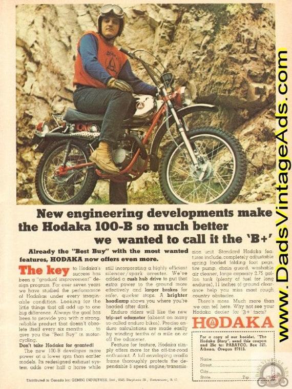 1971 Hodaka 100-B ...we wanted to call it the B+ Vintage Ad #de71fa07