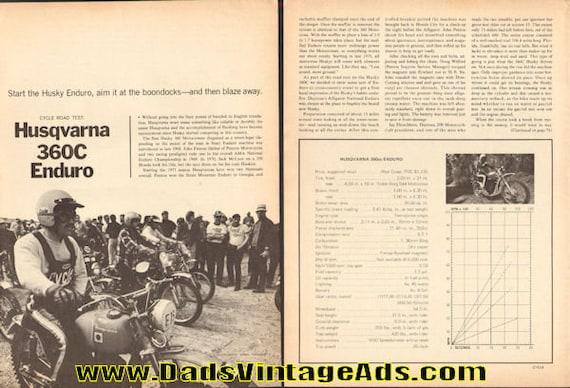 1971 Husqvarna 360C Enduro Road Test 5-Page Article #e71ga09