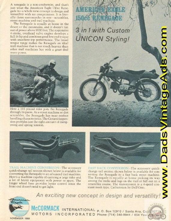 1968 American Eagle 150cc Renegade Motorcycle Ad #e68ka04