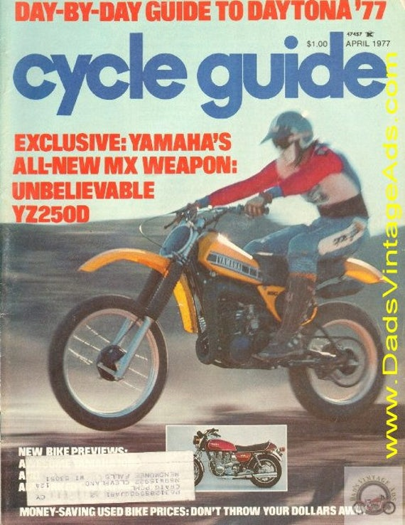 1977 April Cycle Guide Motorcycle Magazine Back-Issue #7704cg