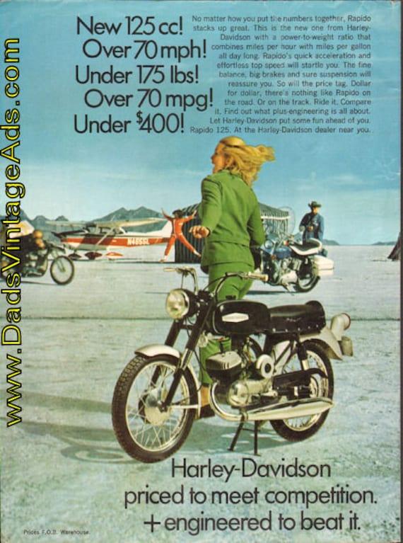 1968 Harley-Davidson Rapido 125cc Ad #e68ea12