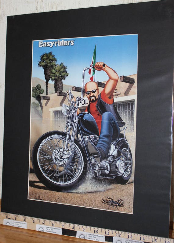 "David Mann ""Mexican Burnout"" 16'' x 20'' Matted Biker Art #9701ezrxmb"