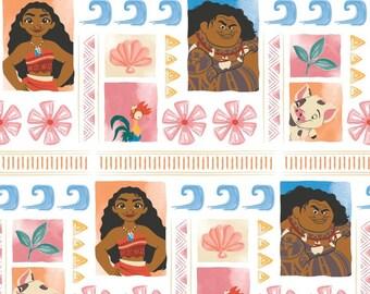 Disney Moana Fabric- Disney Nursery Fabric - Kids Cotton Craft Fabric - Sold By The Metre, Half-Metre and Fat Quarter Baby Nursery Decor