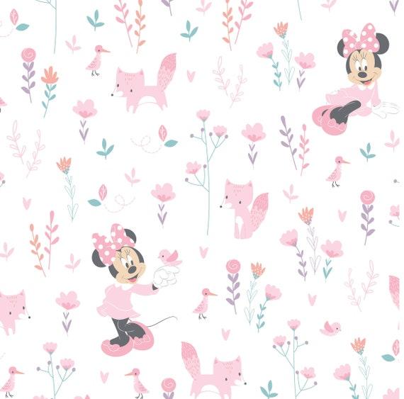 Children/'s Disney Mickey /& Minnie Mouse con licencia de Tela Patchwork Algodón 100/%