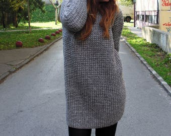 Knit sweater dress oversized sweater knit dress hand knit sweater sweater dress knit sweater long sweater knit tunic women sweater