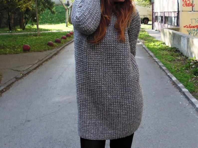 221f6080fd85b8 Knit sweater dress oversized sweater knit dress hand knit