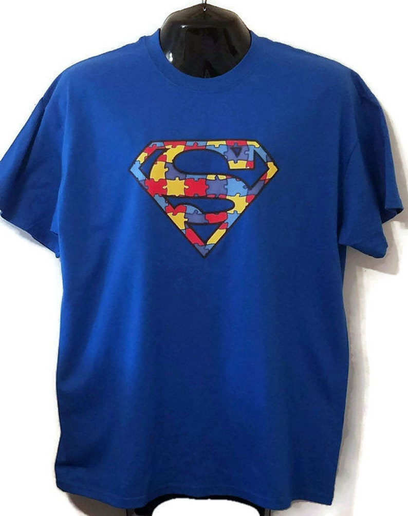 442badb5 Autistic Superman Logo Superhero Autism Awareness Heat   Etsy