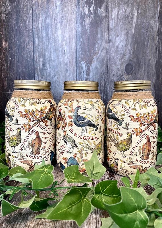 Kilner Country Style Game Bird Tea Coffee Sugar Jars
