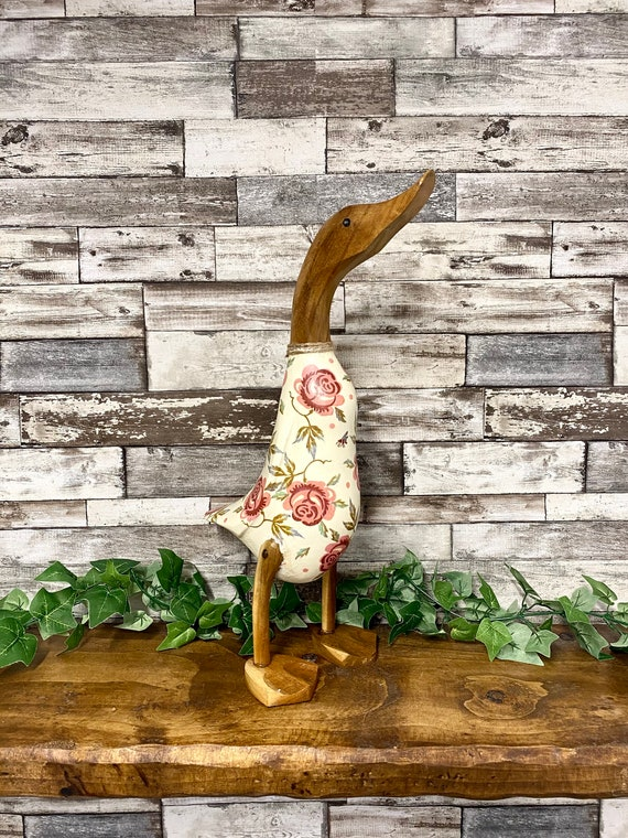 Emma Bridgewater Rose XL Wooden Duck