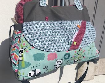 10659ade41d4 Sac à langer , sac Week End , sac à langer étoiles , sac à langer Liberty ,  sac à langer boho chic , sac tissus pandas , sac à couches