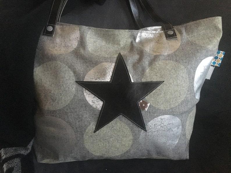 a12080005143f Duża torba skórzana Star torba Star Vintage Bag women's   Etsy