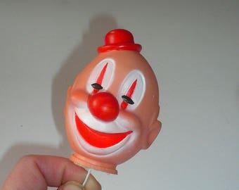 Tête de Clown Vintage Pick Happy Clown visage petit chapeau rouge fabriqué au Japon par VintageReinvented