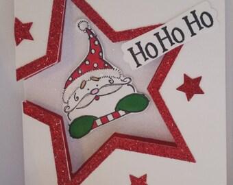 Santa Ho Ho Christmas cards - set of ten