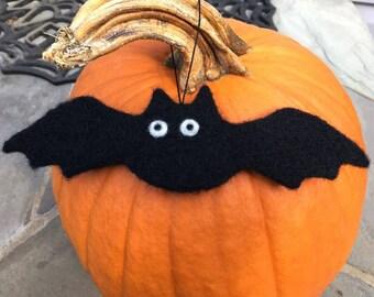 Needle Felted Bat Ornament, Needle Felted Bat Decoration, Needle Felted Bat