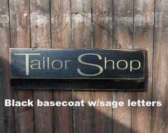 Rustic Signs Tailor Shop Primitive signs, Old Wooden Signs, Distressed Signs Antiqued Signs Sewing Signs