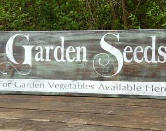 Garden Seeds Primitive Sign Rustic ...