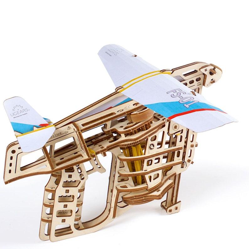 Ugears Mechanical Wooden 3d Puzzle Model Flight Starter Set