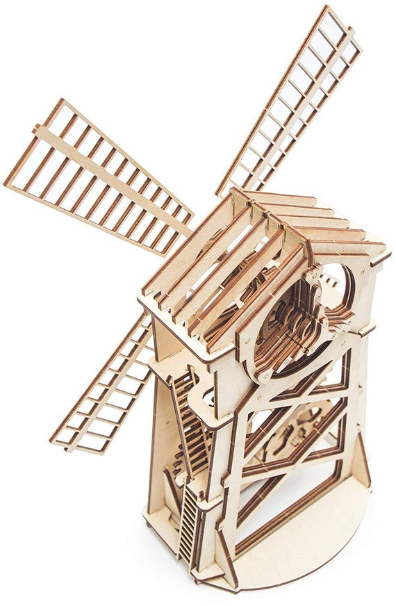 Wood Trick WINDMILL Wind Mill Mechanical 3D Wooden Puzzles Toy