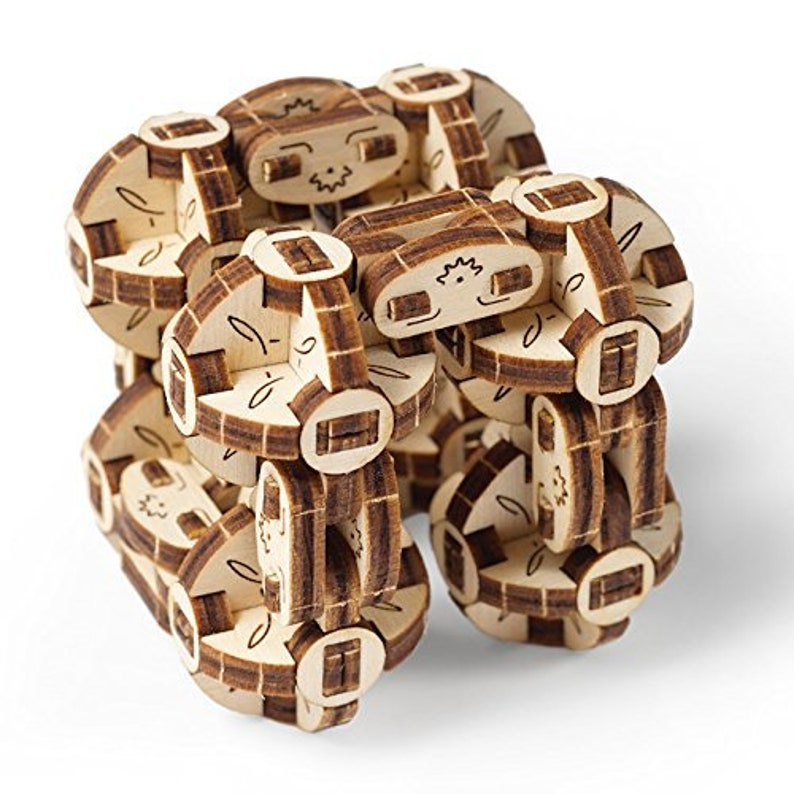 Ugears Flexi Cubus Brainteaser 3d Mechanical Model Wooden Puzzle Ideal Gift For Adults And Teens