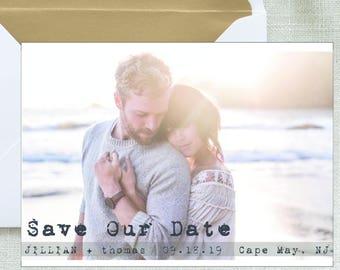 Save the Date Printable Photo postcard engagement announcement Digital File photo save the date Card Photo Announcement wedding printable