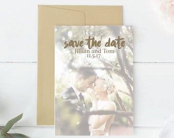 Printable Save the Date Photo card Save Date custom printable DIY Wedding Engagement announcement Card Instant Download Photo Card save date