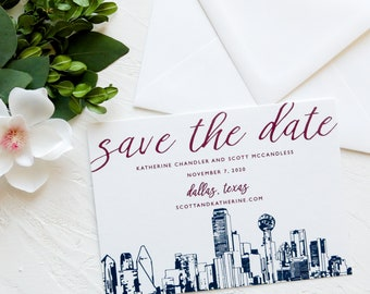 The Deco Carly Square 5.25x5.25 Save the Date