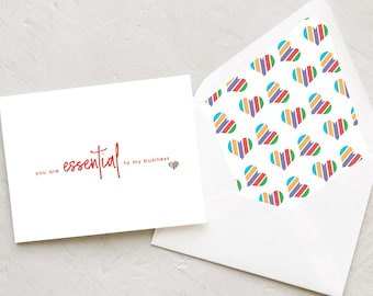 You Are Essential to My Business Note Card Set - Cards Perfect for Rodan and Fields Consultants - Modern Script Style