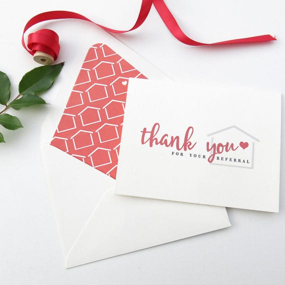 real estate agent thank you cards real estate referral