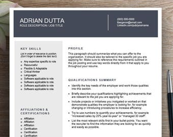 Modern two page resume template / cv template | Combination resume, two page resume, professional resume, curriculum vitae