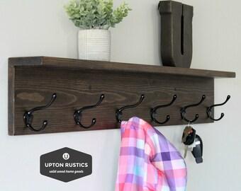 coat rack shelf etsy rh etsy com coat hanger shelves for sale coat hanger shelves cost