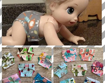 466f87ac7 Baby Alive Diapers//reusable doll diapers//washable toy diapers//cloth doll  diapers//American Girl diapers//Bitty Baby Diapers
