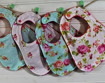 BabyToddler Bibs--Gray Floral Print--Porter Lee/'s