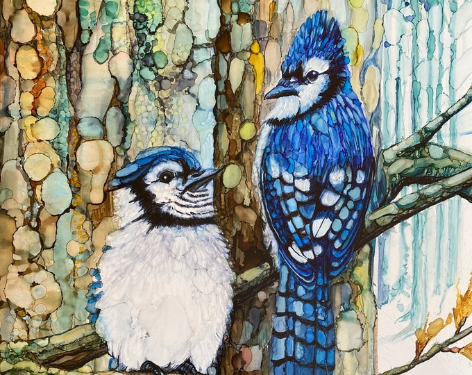 Blue Jays in ink - 33% off with purchase of 3 or more
