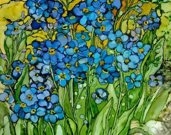 Forget-Me-Not for Alzheimer Society Campaign - 33% off with purchase of 3 or more of any prints, use coupon code:  33PERCENTOFF