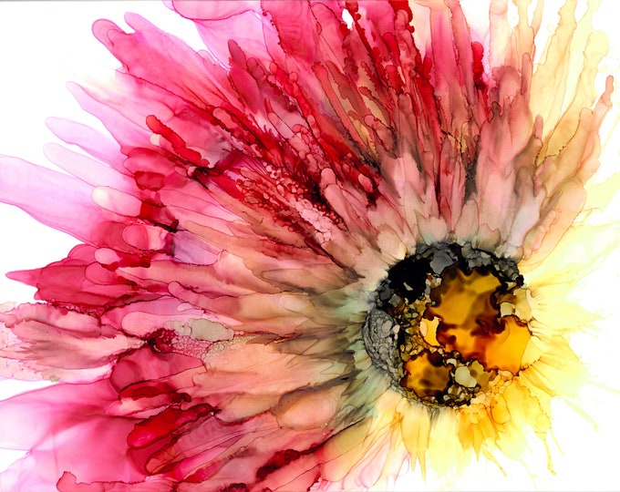 Flower in Pink and Yellow - 33% off with purchase of 3 or more