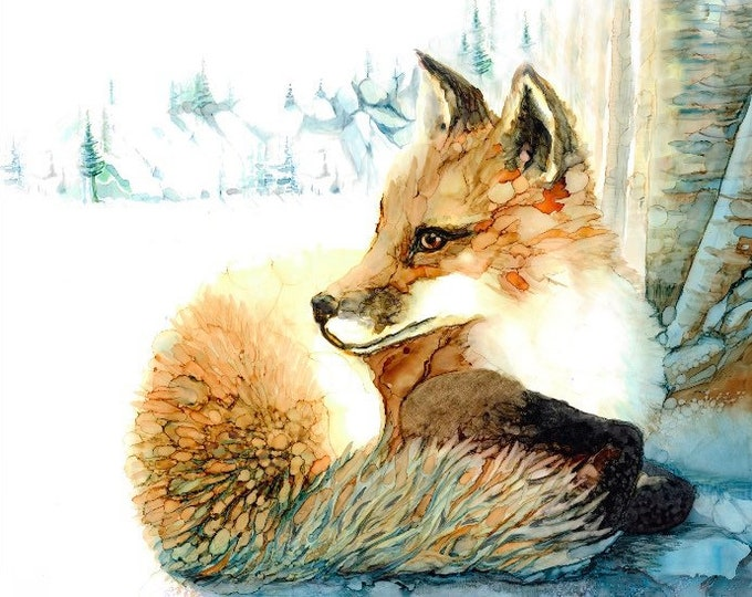 Red Fox in Blue Winter - 33% off with purchase of 3 or more