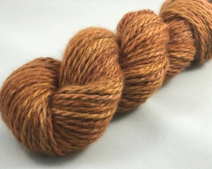 "Featured listing image: Hand Dyed Chunky Yarn, 100% Baby Alpaca, 108 Yards, 100g ""Golden Doodle"""